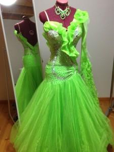 Kleid-Grün